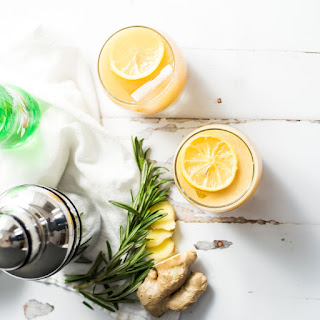 Citrus Ginger Beer Cocktail with Candied Lemon Slices Recipe