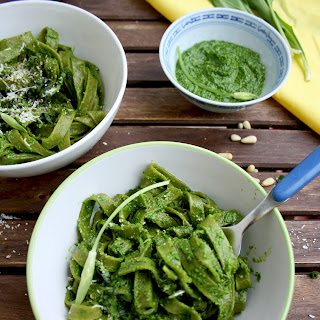 Easy Green Pesto Pasta.