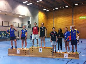 Photo: Mx Cadets Médaille de Bronze: Pierre Ordureau (avec Dana Bouquet)