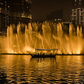 Dubai Fountains by Ronel Nel - City,  Street & Park  Night ( dubai fountains )