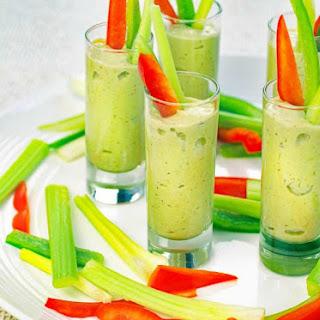 Avocado Dip Veggie Shooters Recipe