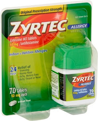 Zyrtec Allergy Antihistamine - 70 Tablets, 10mg