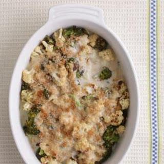 Cauliflower-Broccoli Gratin