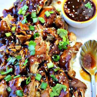 Slow Cooker Garlic Honey Chicken.