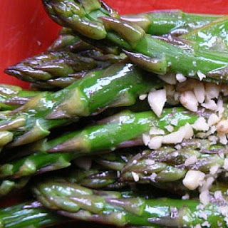 Warm Asparagus Spears with Pine Nuts In About 5 Minutes