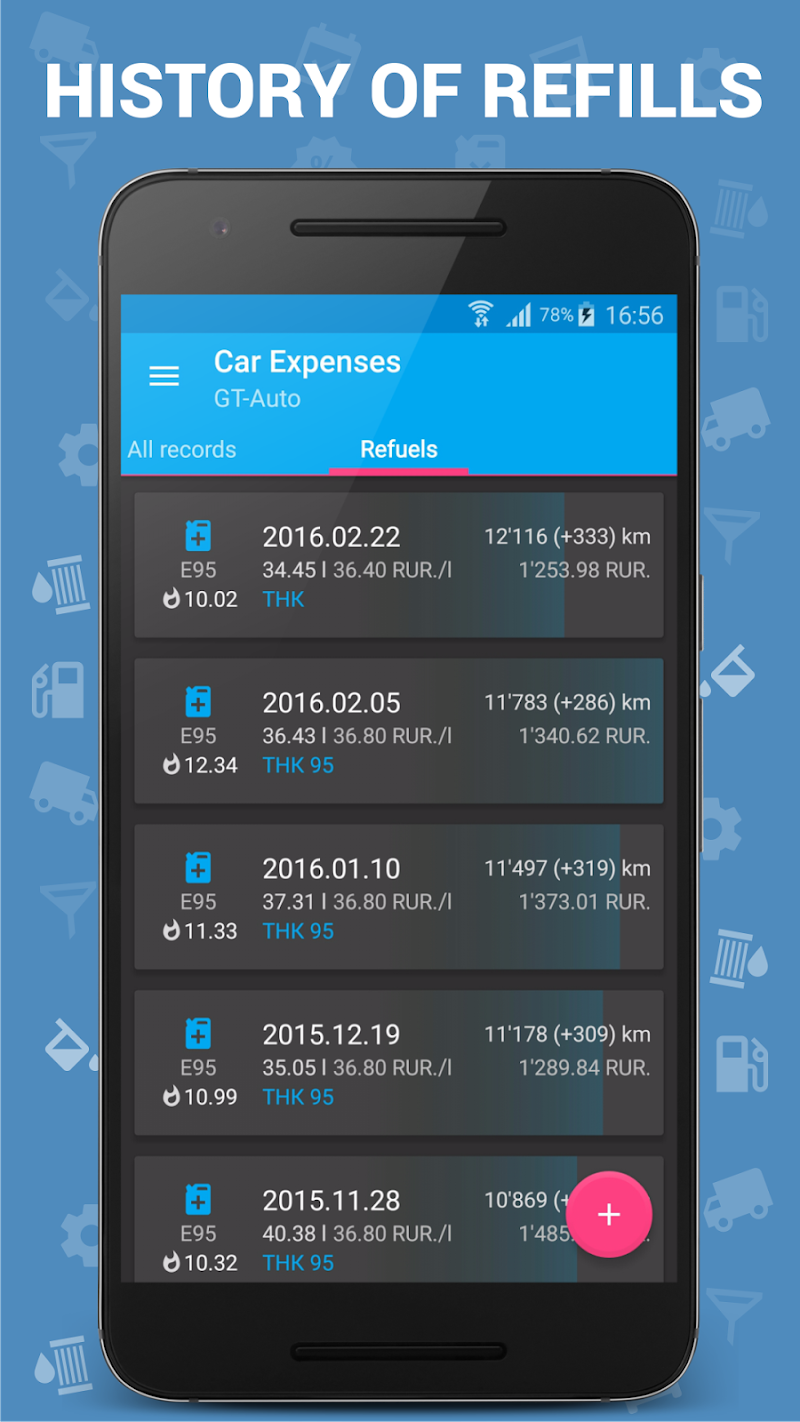 Car Expenses Pro (Manager) Screenshot 2