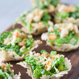 Mini Chopped Caesar Salad Cups.