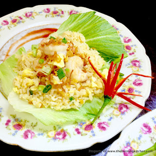 Prawn and Egg Fried Rice (虾仁蛋饭)