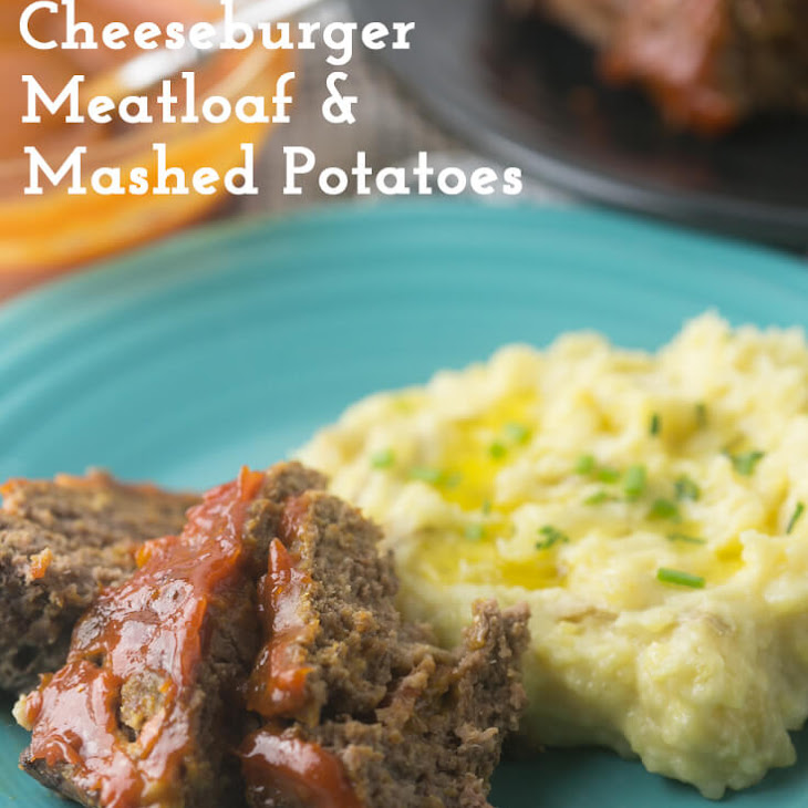 Cheeseburger Meatloaf and Mashed Potatoes in the Instant Pot Recipe
