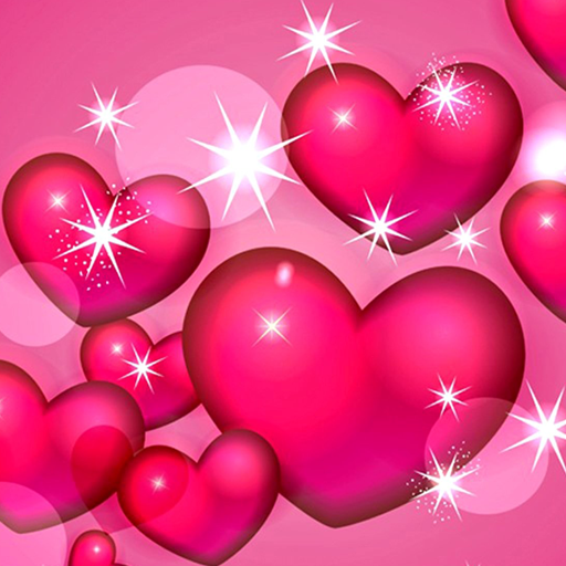 hearts pink wallpaper