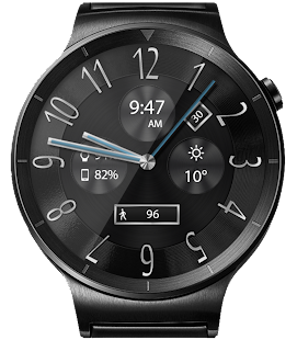 Classic Black HD Watch Face- screenshot thumbnail