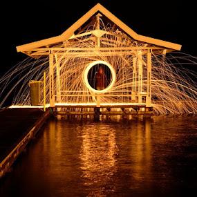 Circle of Fire by Hitler Tombaan - Abstract Fire & Fireworks ( heatlarx, night, steel wool, light painting, fire, long exposure, fireworks, larxart )