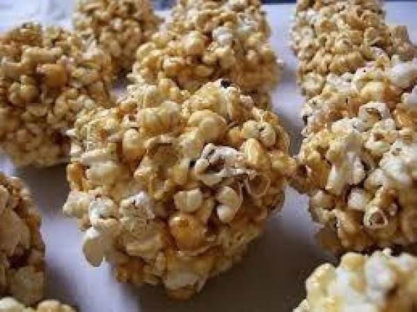 Caramel Popcorn Balls, Homemade And Old Fashioned Recipe