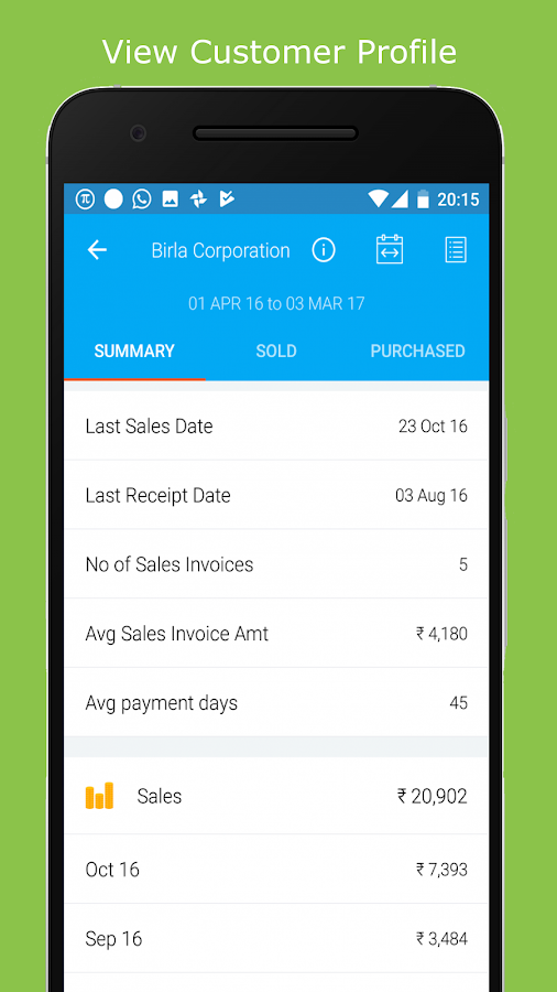 Tally on Mobile: Biz Analyst- screenshot