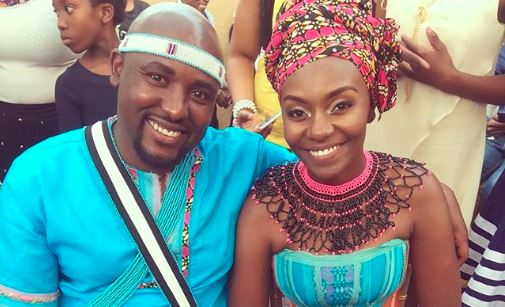Actress Zethu Dlomo got married to actor and director Lebo Mphahlele.