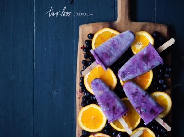 Blueberry & Orange Icy Pops Recipe