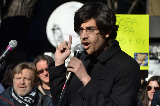 "Demand Progress founder and director Aaron Swartz said about SOPA: ""Some of the co-sponsors are backing away now. You can stop this bill if you don't stop fighting."""