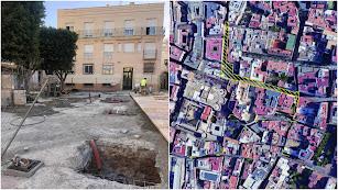 Montaje con las obras en la Plaza Careaga y las zonas del centro que se verán afectadas con cortes de tráfico y desvíos.