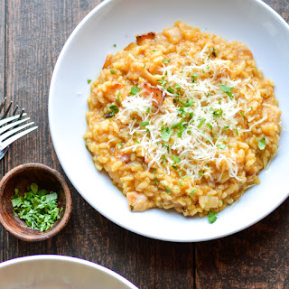 Pumpkin Risotto with Bacon.