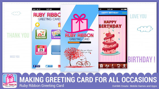 Ruby ribbon greeting cards apps on google play screenshot image m4hsunfo