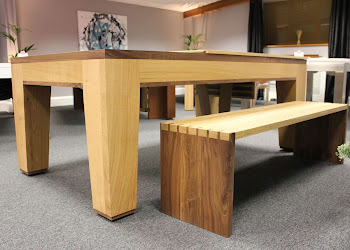 Table bench next to a table
