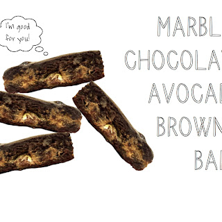 Healthy Marbled Chocolate Avocado Brownie Bars
