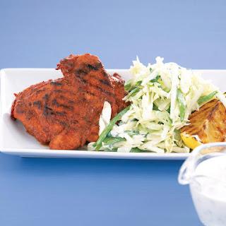Tandoori Chicken with Apple Coleslaw.