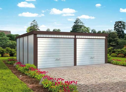 projekt GB46 Garaż Blaszany Dwustanowiskowy