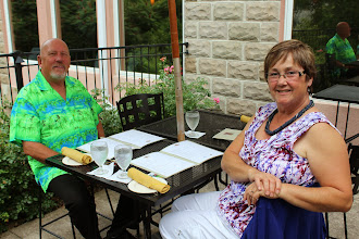 Photo: Warren and MaryAnn at Strewn Winery.