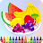 Fruit and Vegetables Coloring for kids Icône
