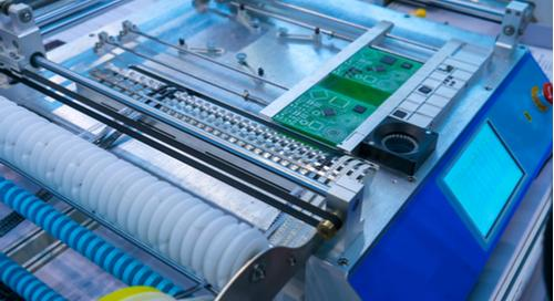 automation chip mounter working with robo