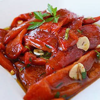 Marinated Roasted Red Bell Peppers.