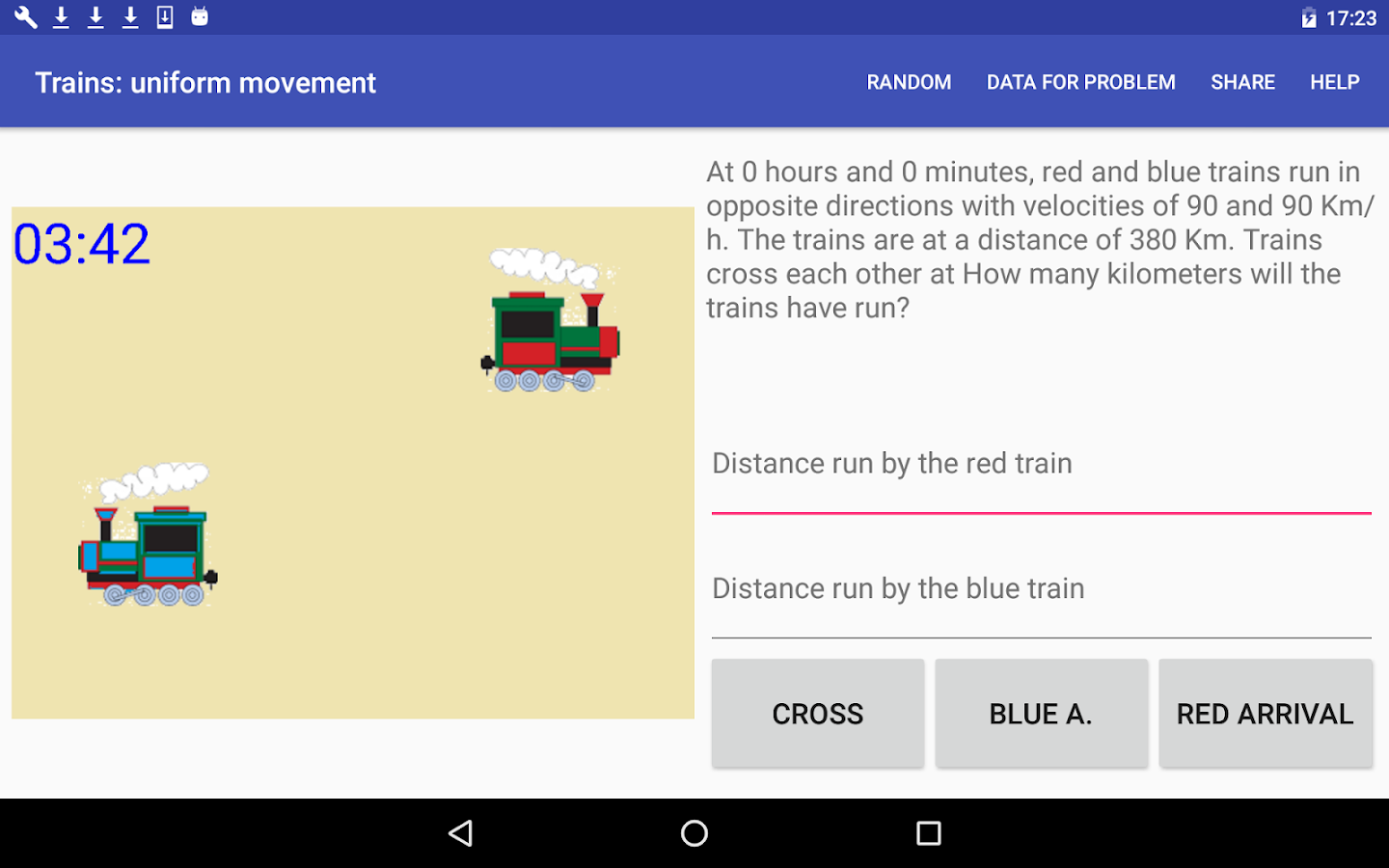 Trains: uniform movement- screenshot