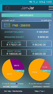 JamJar South Africa Budget App- screenshot thumbnail