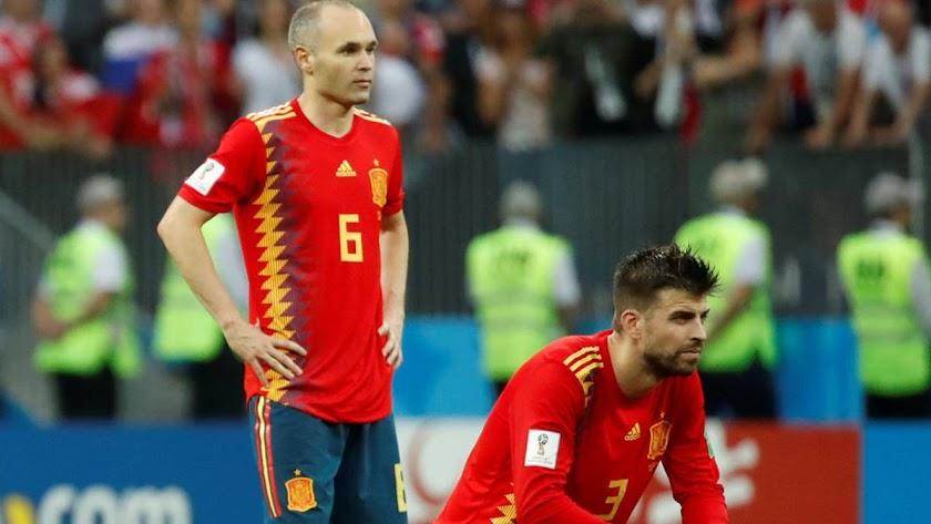 Piqué jugó su último partido e Iniesta dice que se va