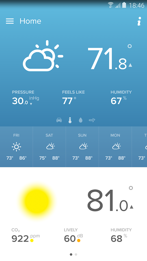 Screenshots of Netatmo Weather Station for Android