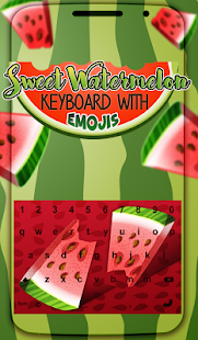 Sweet Watermelon Keyboard with Emojis - náhled