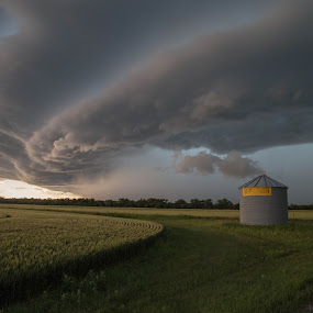 Superior Storm by Laura Gardner - Novices Only Landscapes ( clouds, god's country, nature, nd, weather, storm, prairie,  )