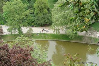 Photo: Saaressa sijaitsevalta näköalapaikalta avautuu näkymä alas puistoon.