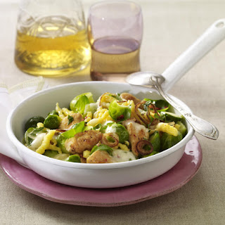Spätzle with Turkey and Brussels Sprouts