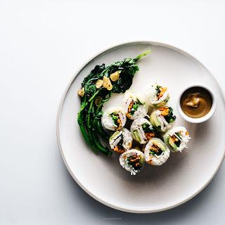 Avocado Chicken Broccoli Rabe Summer Rolls