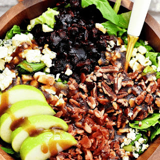 Apple, Bacon & Gorgonzola Salad with Sweet Balsamic Vinaigrette