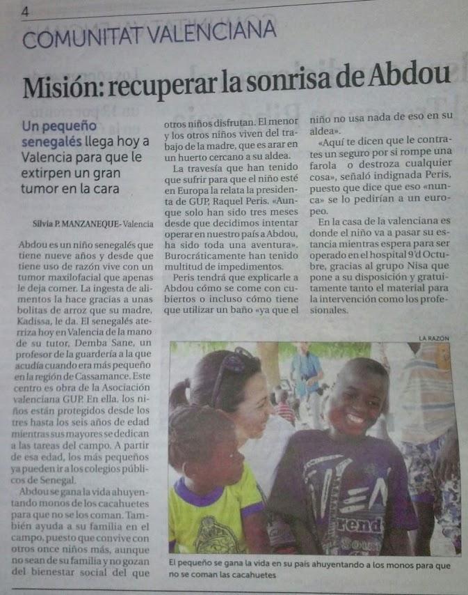 Artículo La razon sobre llegada de Abdou