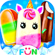 Unicorn Icepop - Popsicles Food Making Game