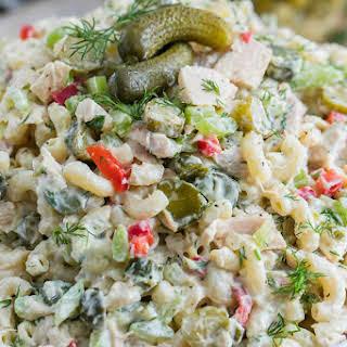 Pickled Tuna Macaroni Salad.