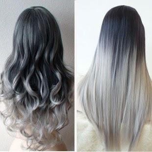 Grey Ombre Hair - náhled