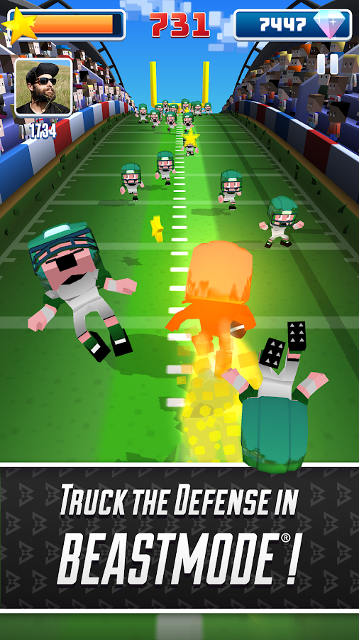 Blocky BEAST MODE® Football- screenshot