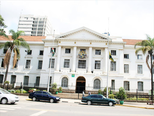 City Hall Building that houses the headquarters of Nairobi City County.