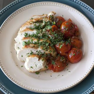Chicken with Herb-Roasted Tomatoes