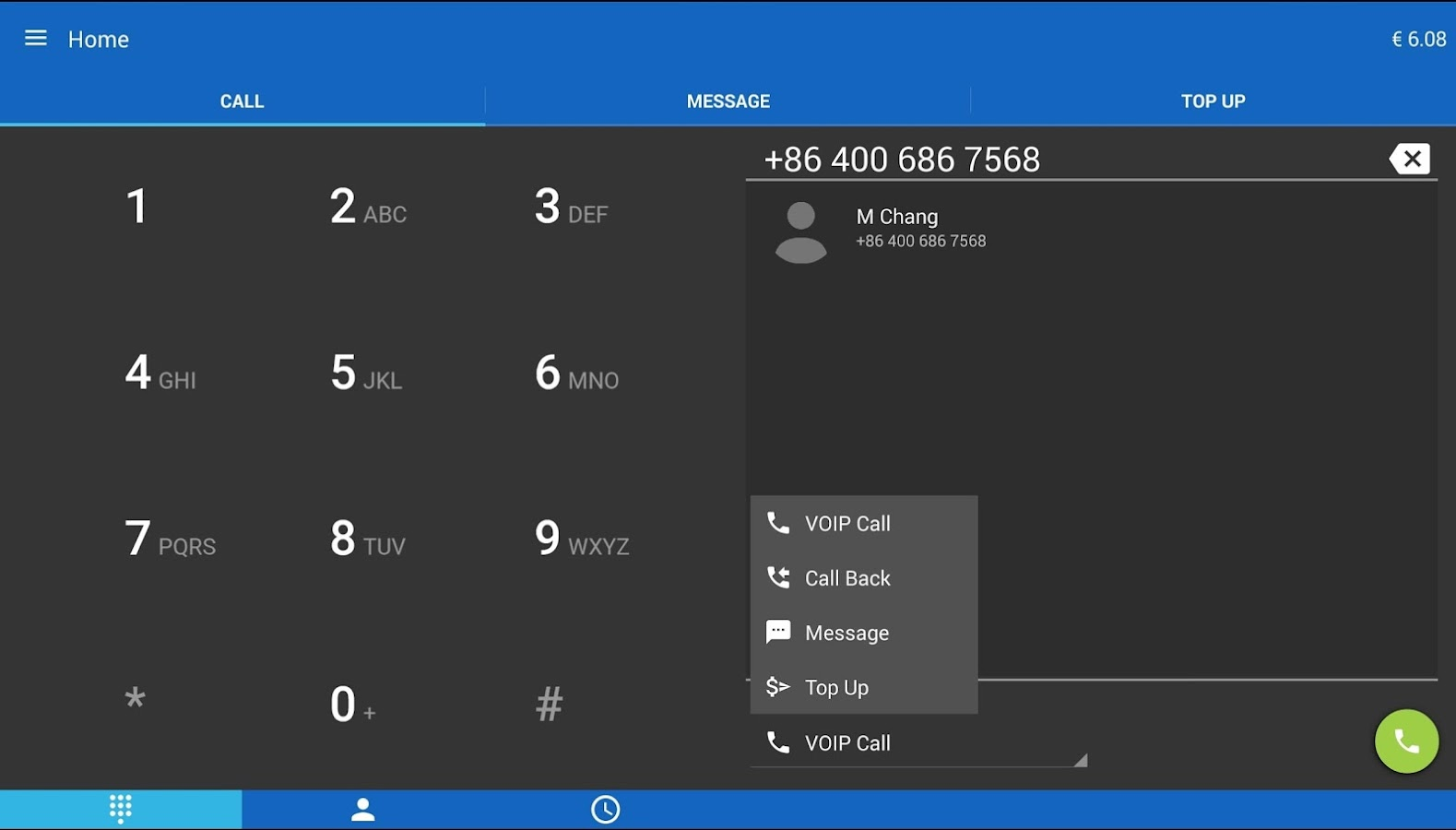 Internetcalls Wifi Dialer- screenshot